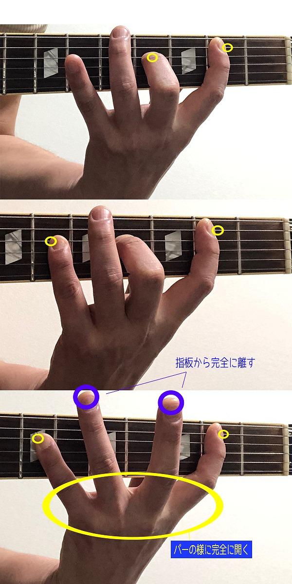 パワーコード5度クリシェの弾き方