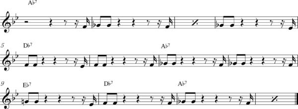 管楽器の8ビートフレーズ2Bb