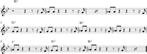管楽器の8ビートフレーズ2