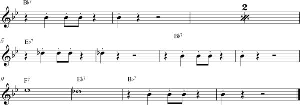 管楽器の8ビートフレーズ3Bb