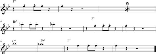 管楽器の8ビートフレーズ3