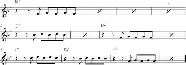 管楽器の8ビートフレーズ4Bb