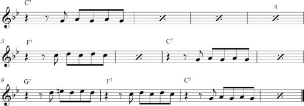 管楽器の8ビートフレーズ4