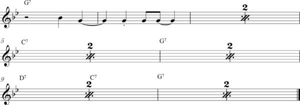 管楽器の8ビートフレーズ5