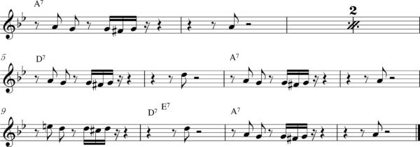 管楽器の8ビートフレーズ6