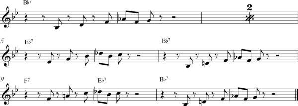 管楽器の8ビートフレーズ7