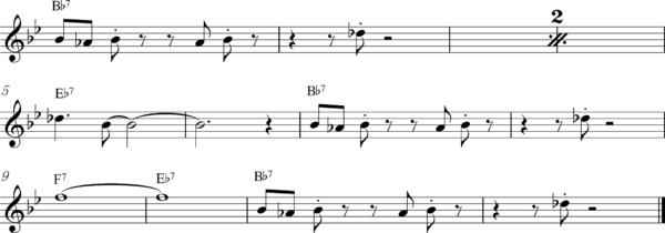 管楽器の8ビートフレーズ8