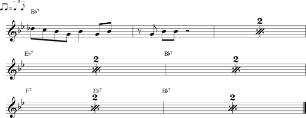 管楽器のシャッフルフレーズ10Bb