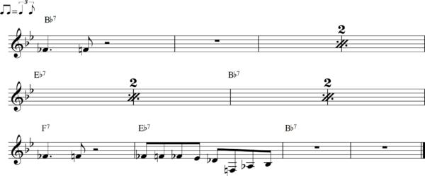 管楽器のシャッフルフレーズ11Bb