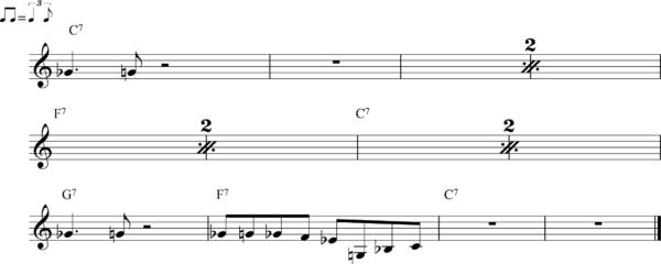 管楽器のシャッフルフレーズ11