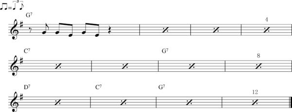 管楽器のシャッフルフレーズ12