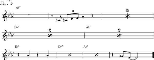 管楽器のシャッフルフレーズ13