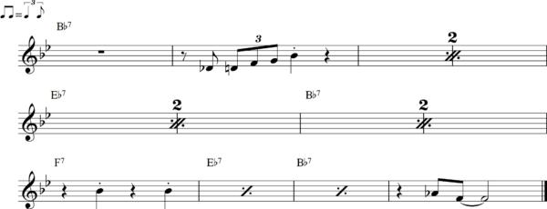 管楽器のシャッフルフレーズ13Bb