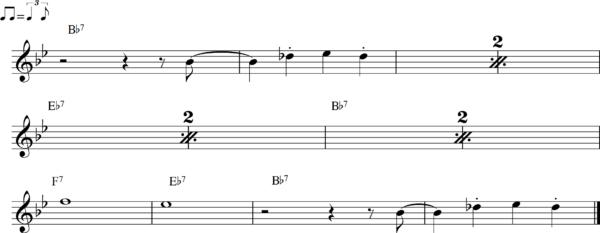 管楽器のシャッフルフレーズ14Bb