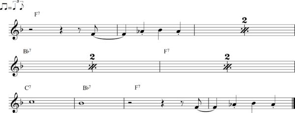 管楽器のシャッフルフレーズ14