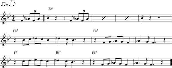 管楽器のシャッフルフレーズ15Bb