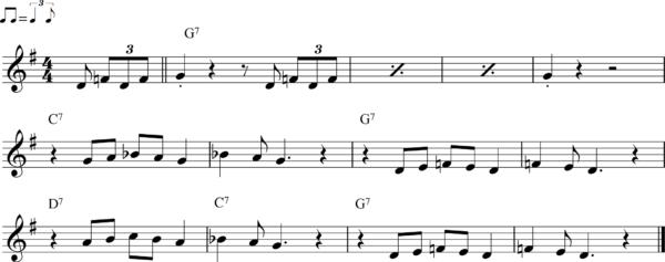 管楽器のシャッフルフレーズ15
