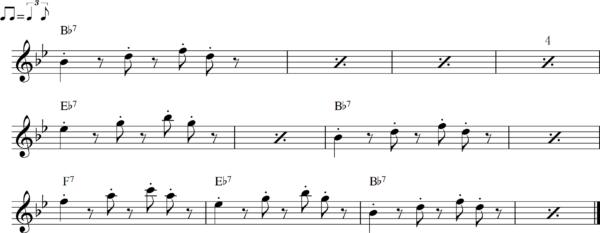 管楽器のシャッフルフレーズ6Bb