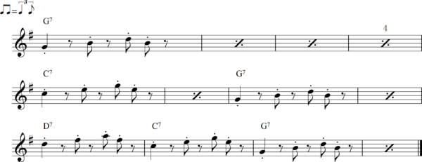 管楽器のシャッフルフレーズ6
