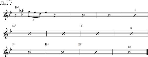 管楽器のシャッフルフレーズ7