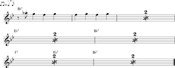 管楽器のシャッフルフレーズ8
