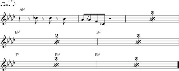 管楽器のシャッフルフレーズ9
