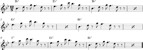 管楽器のスロービートフレーズ1