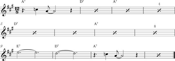 管楽器のスロービートフレーズ2
