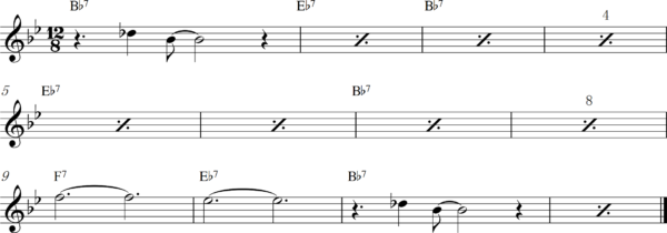 管楽器のスロービートフレーズ2Bb