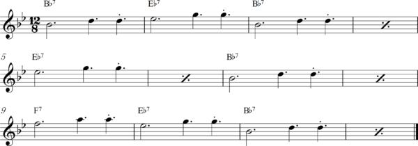 管楽器のスロービートフレーズ3Bb