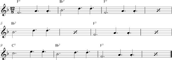 管楽器のスロービートフレーズ3