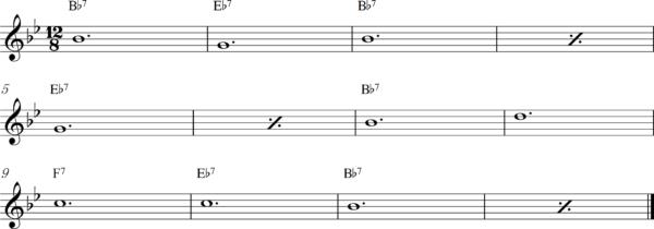 管楽器のスロービートフレーズ4Bb