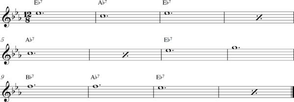 管楽器のスロービートフレーズ4