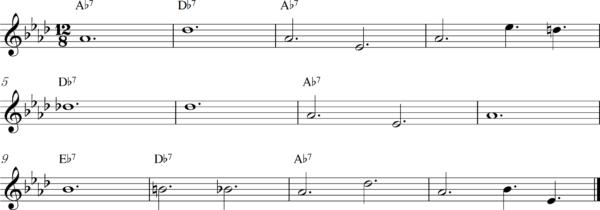 管楽器のスロービートフレーズ5