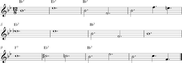 管楽器のスロービートフレーズ5Bb