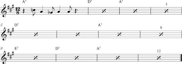 管楽器のスロービートフレーズ6