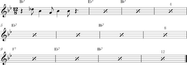 管楽器のスロービートフレーズ6Bb