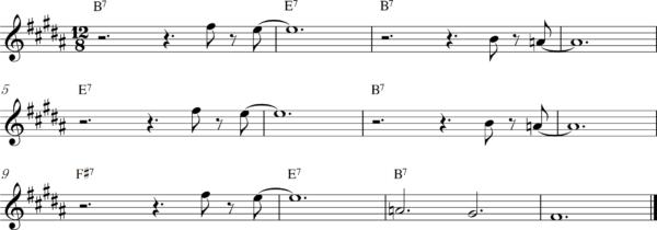管楽器のスロービートフレーズ7