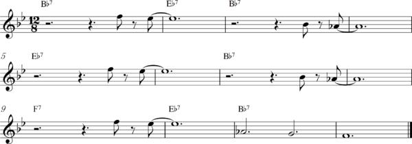 管楽器のスロービートフレーズ7Bb