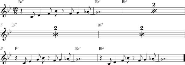 管楽器のスロービートフレーズ8