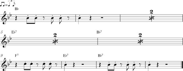 管楽器のアップテンポのフレーズ2Bb