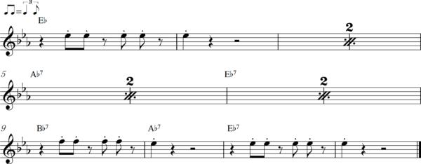 管楽器のアップテンポのフレーズ1