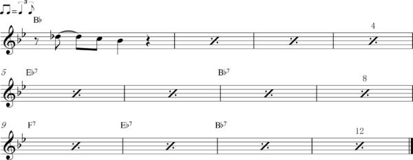 管楽器のアップテンポのフレーズ3Bb