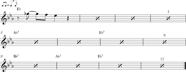管楽器のアップテンポのフレーズ3