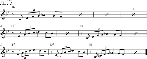 管楽器のアップテンポのフレーズ4