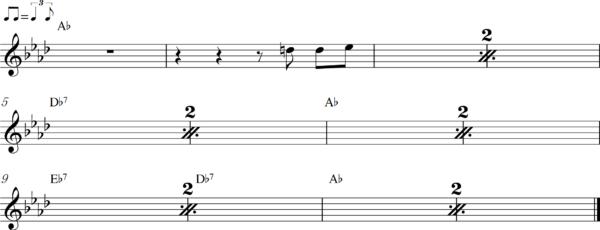 管楽器のアップテンポのフレーズ5