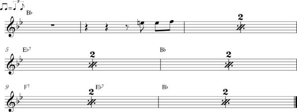 管楽器のアップテンポのフレーズ5Bb