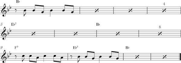 管楽器のアップテンポのフレーズ6Bb