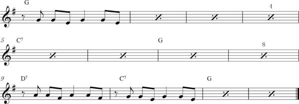 管楽器のアップテンポのフレーズ6