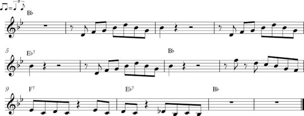 管楽器のアップテンポのフレーズ7Bb